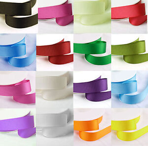 10-Mtrs-of-Grosgrain-Ribbon-10mm-3-8-width-Various-Colours