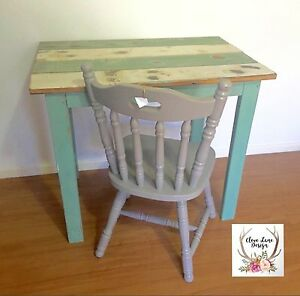 Vintage Timber VJ Table /Desk Goombungee Toowoomba Surrounds Preview