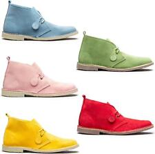 Popps COLOUR Unisex Mens Ladies Summer Casual Suede Leather Chukka Desert Boots