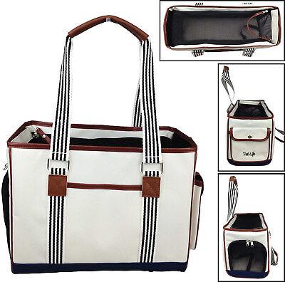 Fashion 'Yacht Polo' Designer Travel Fashion Pet Dog Carrier bag w/ (Fashion Pet Carrier)