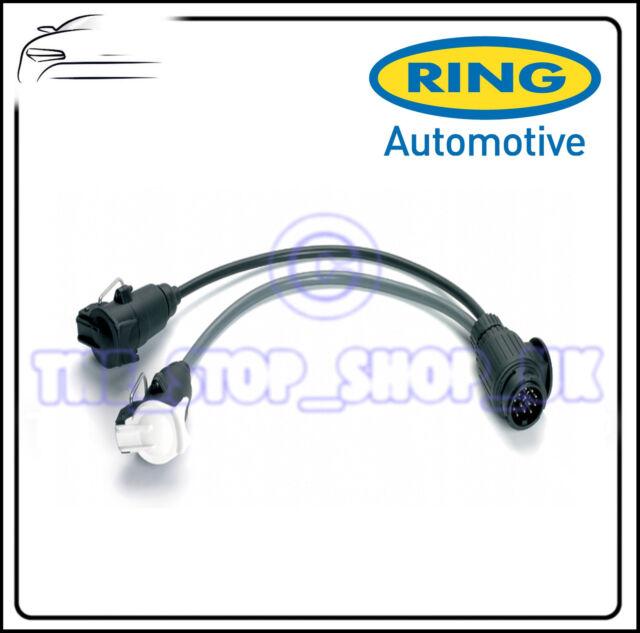 Ring Socket Adapter 13 pin socket to 12N + 12S 7 pin Plugs A0038