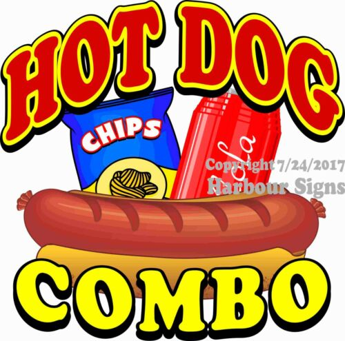 Hot Dog Combo DECAL (Choose Your Size) Food Truck Concession Vinyl Sticker