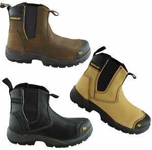 CATERPILLAR CAT PROPANE MENS STEEL TOE WORK/SAFETY BOOTS/SHOES ...