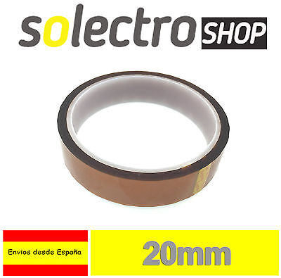 Cinta Termica 20mm Tape Temperature Resistant Polyimide Kapton 3D Printer I053