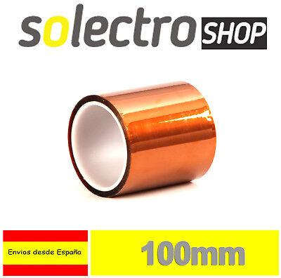 Cinta Termica 100mm Tape Temperature Resistant Polyimide Kapton 3D Printer I141