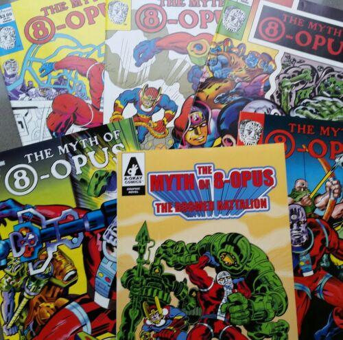 Tom Scioli Comic Book The Myth of 8-Opus 1 2 4 5 Doomed Legion TPB Kirby No CGC