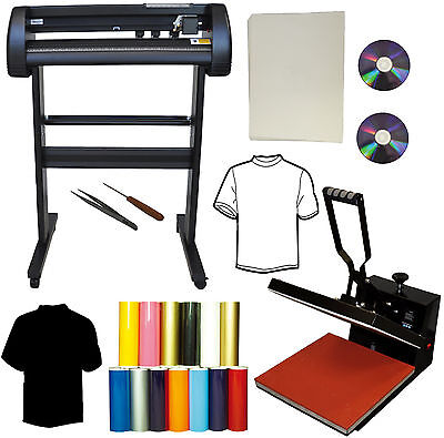 28 24 500g Laser Point Vinyl Cutter Plotter15x15 Heat Presstransfer Bundle