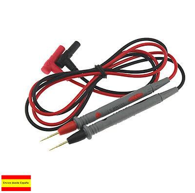 2 Cables de prueba POLIMETRO MULTIMETRO 1M 10A 1000V PUNTAS PINZA CONECTOR...