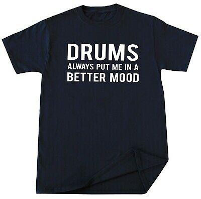 Drummer Birthday T Shirt Funny Playing Drums Gift Idea Music Lover Christmas Tee ()