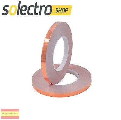 Cinta adhesiva 5mm de cobre Conductor Reparaciones eléctricas blindaje EMI H0172
