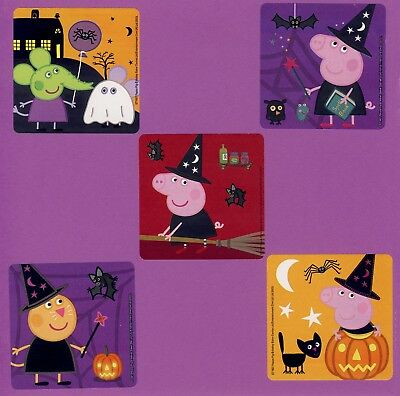 15 Peppa Pig Halloween - Large Stickers - Party Favors