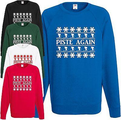 Wieder Sweatshirt (Piste Wieder Sweatshirt Weihnachts Pullover Top Lustig Trinken Skifahren Gift)