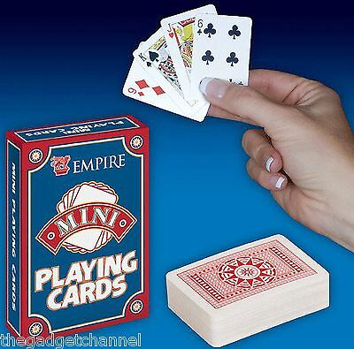 MINI SMALL LIGHT TRAVEL PLAYING CARDS CHILDRENS BOYS MENS GIFT