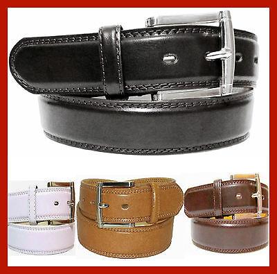 Leather Jean Casual Belt - MEN'S CASUAL DRESS JEANS GENUINE LEATHER BELT 1 1/2