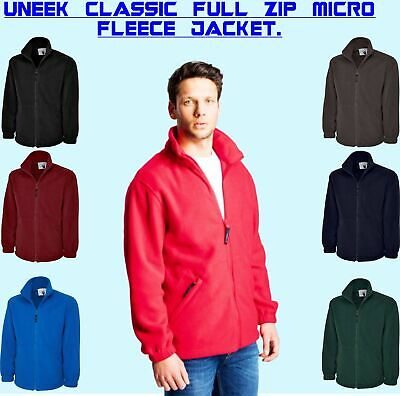 Uneek Classic Full Zip Micro Fleece Jacket UC604 7 Colours(XS-6XL) Unisex Jacket