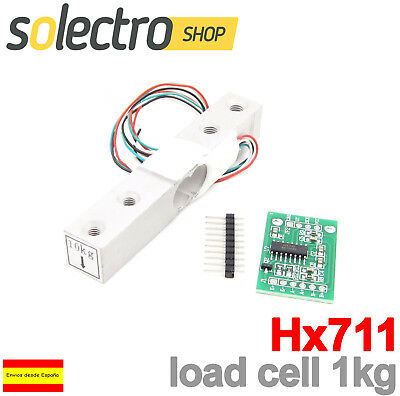 HX711 Modulo Conversor + Celda de Carga 1kg Load Cell Conversor A/D...