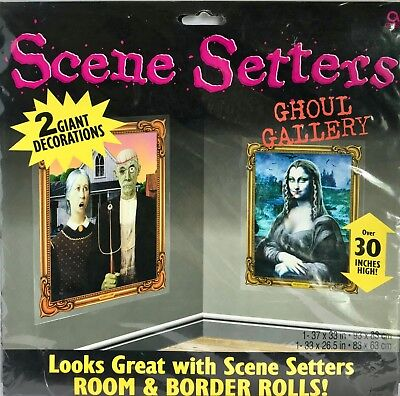 Scene Setters Ghoul Gallery by Amscan 2 Halloween Spooky Pictures Over 30in High