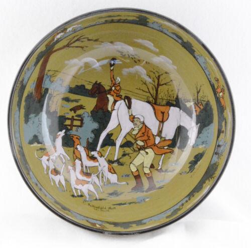 """Buffalo Pottery Deldare Bowl The Fallowfield Hunt The Death (9"""")"""