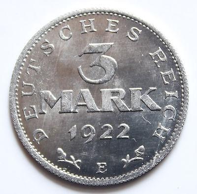 WR  3 Mark 1922 E  ohne Umschrift   sehr selten !!
