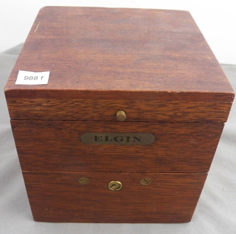 Elgin Gimballed Chronometer Watch w/ Box, 21J, WWI
