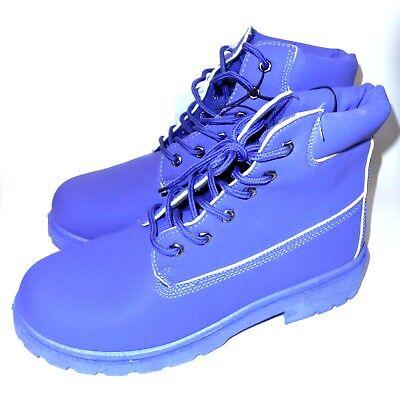 Womens Waterproof Combat Boot (EpicStep Women's Wanda Colored Waterproof Combat Boots 10 Purple-NWT MSRP $32.99)