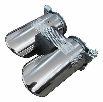 Für viele Fahrzeuge 2x Premium Edelstahl Endrohre Original Qualität Einlass 50mm