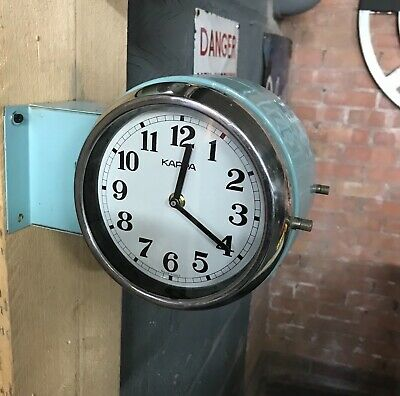 Vintage Industrial Ships Clock Kappa Double Sided Wall Clock-Marine Salvage