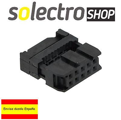 2x Conector Hembra IDC 10 para CABLE Plano AWG 1,27 Flat Ribbon...