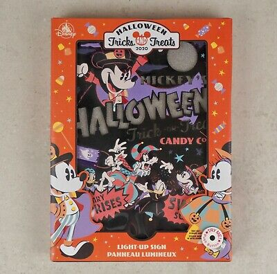 Disney Parks Halloween Trick and Treats 2020 Light Up Sign - NEW