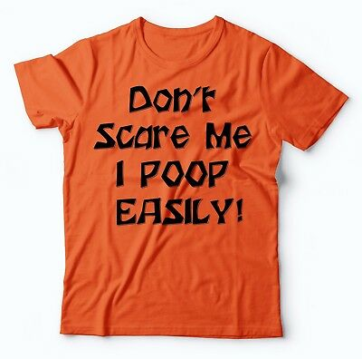Halloween Scares Funny (Funny Halloween T-Shirt Don't Scare Me I Poop Easily T-Shirt Halloween)