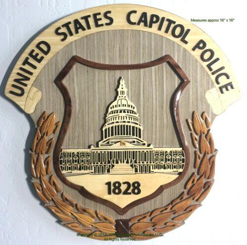U.S. CAPITOL POLICE - Wooden Plaque - Handcrafted Wood Art Plaque