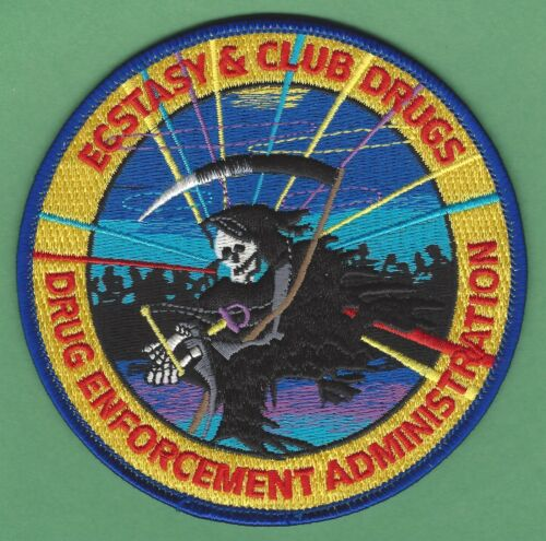 DEA DRUG ENFORCEMENT ADMINISTRATION ECSTACY & CLUB DRUGS UNIT SHOULDER PATCH