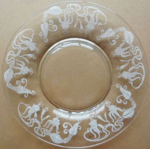 "HTF 1921-34 CAMBRIDGE deep plate ETCHED MARJORIE 7"" SALAD PLATE (1 of 6)"