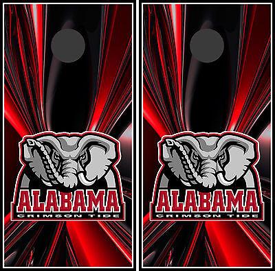 Alabama Crimson Tide Cornhole Wrap Skin Vinyl Game Art Sticker Decal Mascot DT12