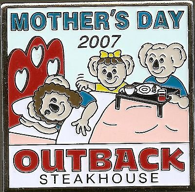 J3539 Outback Steakhouse hat lapel pin Mothers Day 2007
