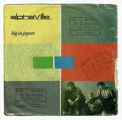 "Alphaville Vinyl Record 45 RPM Sp 7 "" Big in Japan - Seeds - Wea 249505-7 Rare"