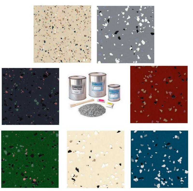 Supercoat Liquid Flooring Epoxy Kit Garage Floor Coating Resin Flakes Paint