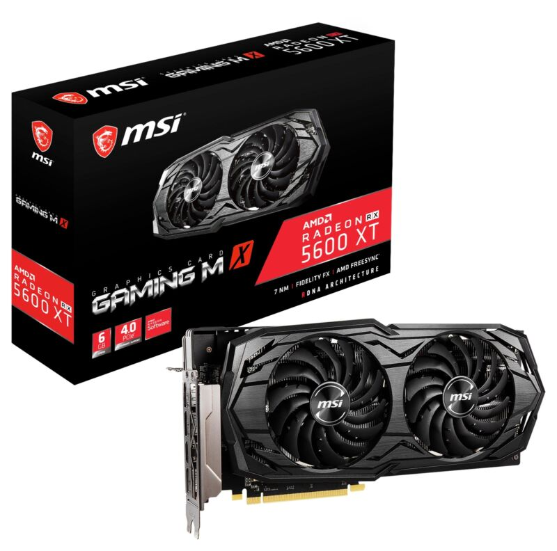MSI Radeon RX 5600 XT GAMING MX Graphics Card, PCI-E 4.0, 6G GDDR6, VR Ready