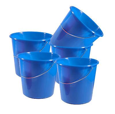 10 Liter Putzeimer mit Skala 5 Stück Eimer Kunststoff Wassereimer Wischeimer Sch 10 Skala