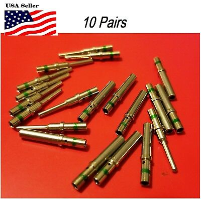 10 Pairs Deutsch Dt Series Solid Pin Connector Male Female 20 Pcs