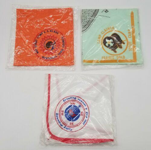 Three(3) Brand new sealed BSA Boy Scouts of America Neckerchiefs - Free Shipping