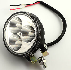 Projecteur etanche poursuite leds 9w 12v 24v 700lm 6 longue portee automobile ebay - Projecteur led 12v ...