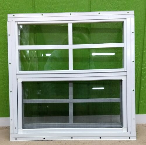 Shed Window -- 16x16 with 4x4 Grids --Flush Mount, Brown or White