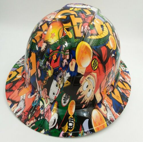 FULL BRIM Hard Hat custom hydro dipped , NEW DRAGON BALL Z HOT NEW PYRAMEX 3