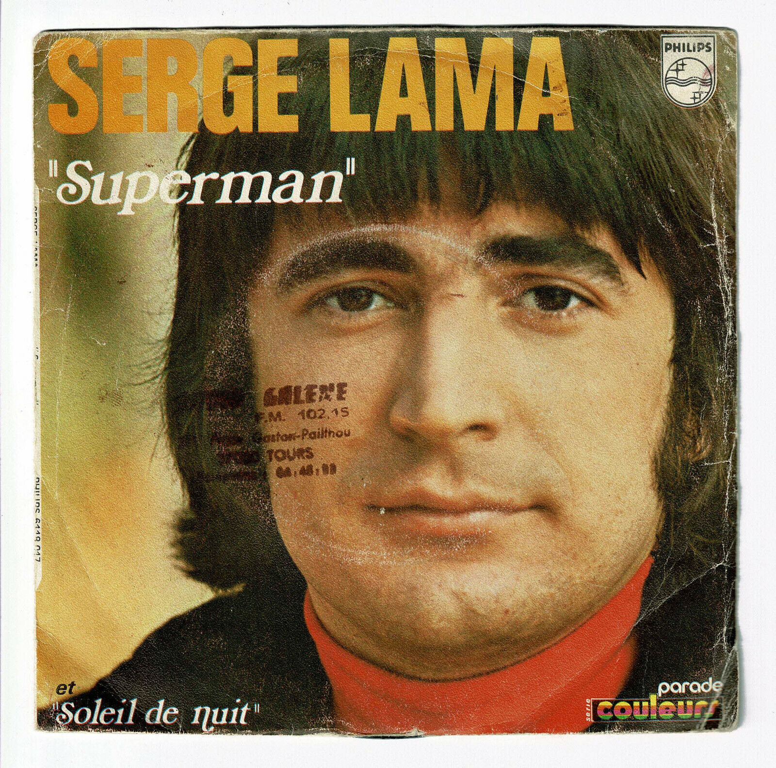 "Serge Lama Vinyl 45 Tours 7 "" Superman Apeman Soleil Nachthemd - Philips 6118017"