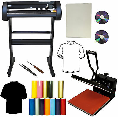 15x15 Flat Heat Press28 500g Metal Vinyl Cutter Plotterheat Transfer Paper Pu