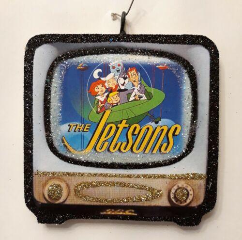 RETRO TELEVISION - The JETSONS * Glitter CHRISTMAS ORNAMENT * Vtg Img