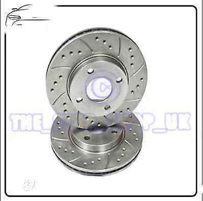 Performance Drilled & Grooved Front Brake Discs to fit Ford Transit 00-06 2.0