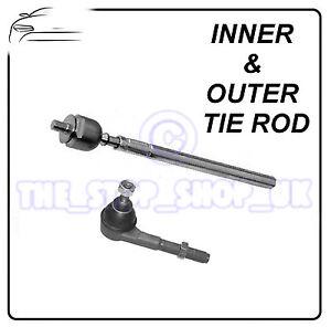 Peugeot 307 Citroen C4 -2005 Left Inner & Outer Tie Rod End Steering Track Rod