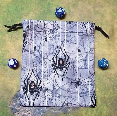Black Widow Spider Dice Bag, Card Bag, Makeup Bag  (Black Widow Makeup)